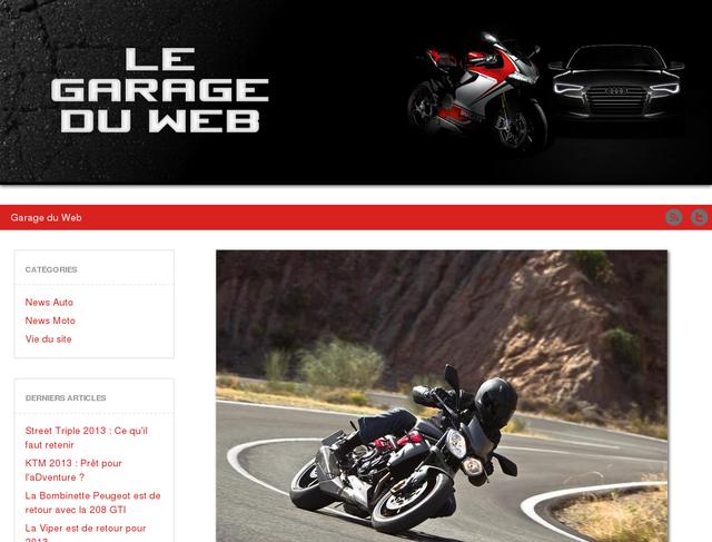 Nouveau design legarageduweb.com
